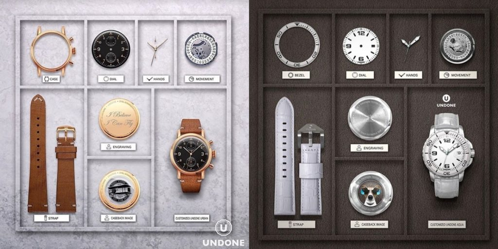 UNDONEのカスタム腕時計(URBAN&AQUA)