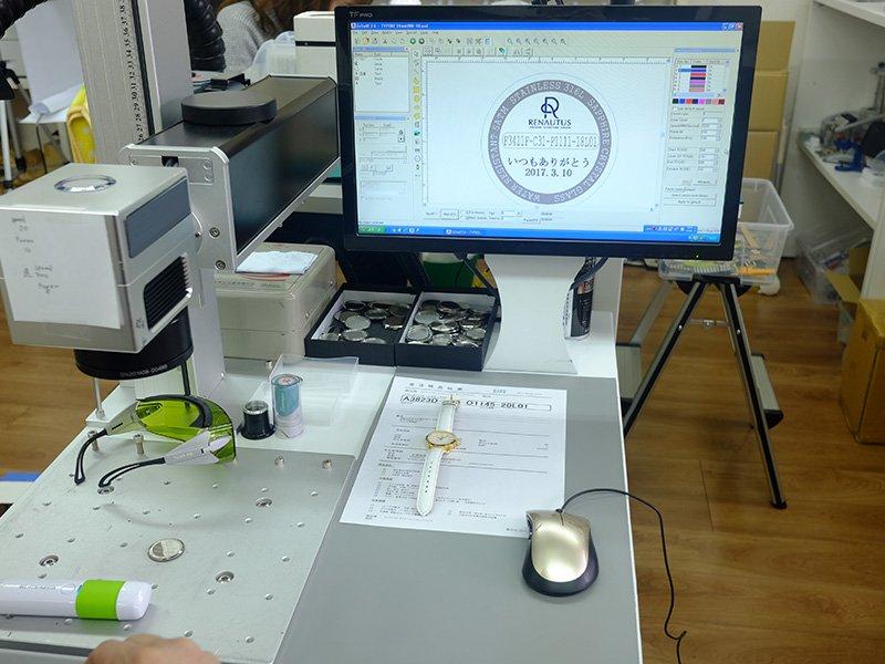 ルノータス クオーツモデル 刻印電池式