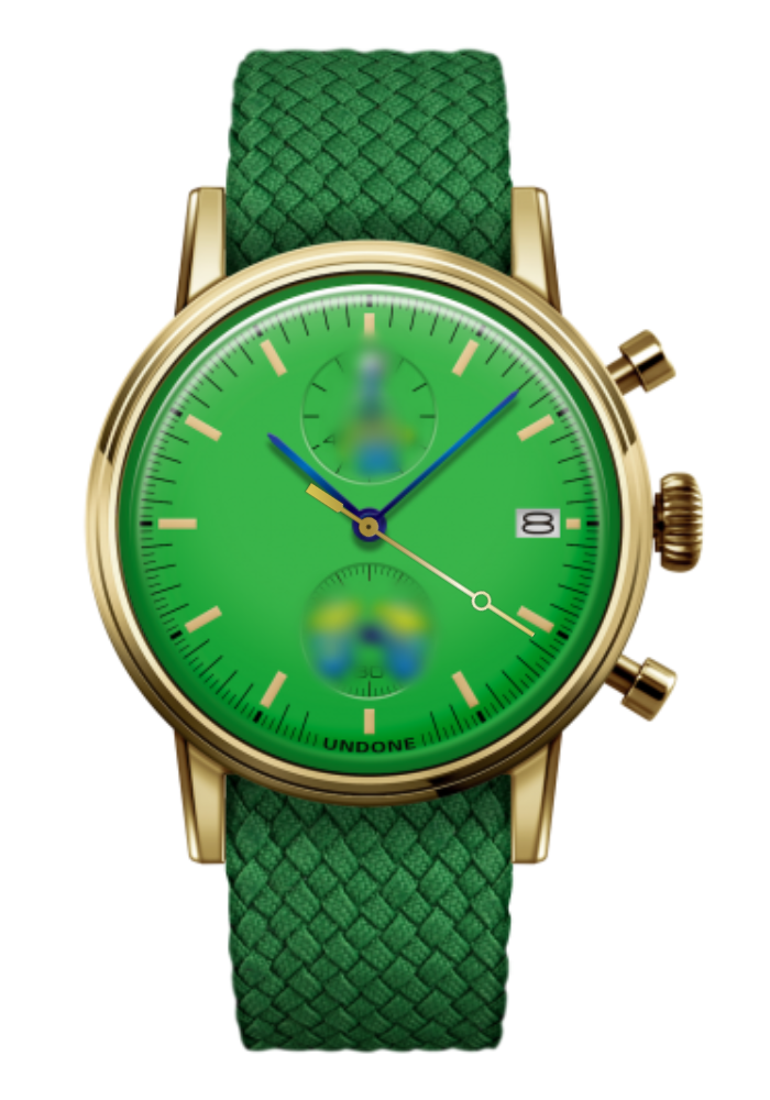 トイストーリー UNDONE カスタマイズ腕時計 グリーン