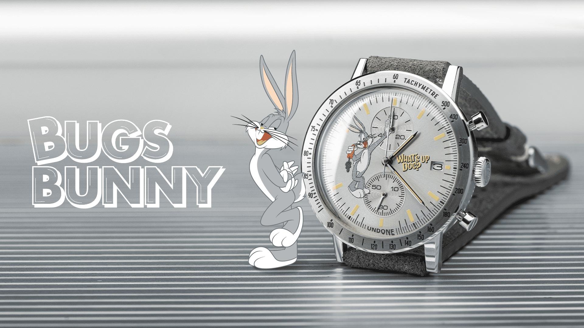 UNDONE アンダーン コラボ腕時計 bugs_bunny バックス バニー