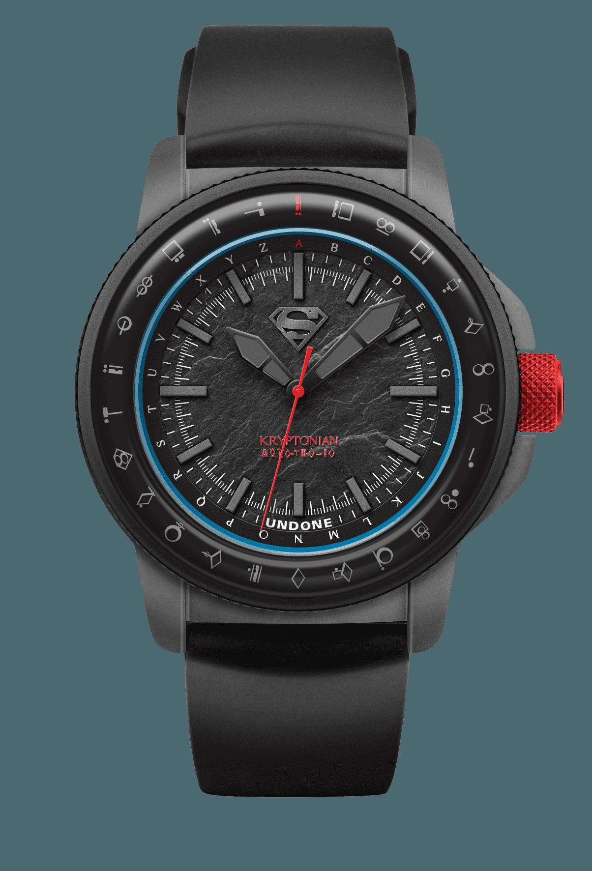 UNDONE アンダーン SUPERMAN スーパーマン コラボ腕時計 フロント